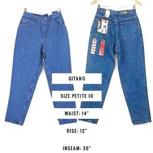 Vintage Gitano Size 10 High Waist Mom Jeans NWT
